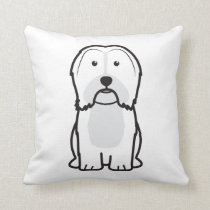 Havanese Dog Cartoon Throw Pillow