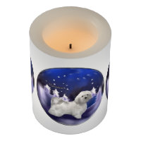 Havanese Dog Christmas Flameless Candle