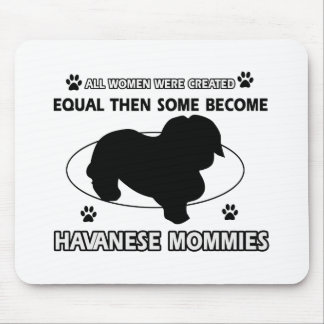 Havanese Dog designs Mouse Pads