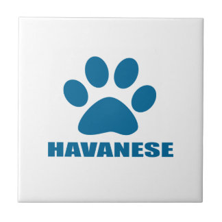 HAVANESE DOG DESIGNS TILE