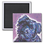 Havanese Dog fun pop art 2 Inch Square Magnet