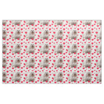 Havanese Dog With Hearts Fabric