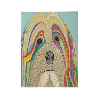 Havanese Dog Wood Poster