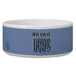 Havanese DUDE Dog Water Bowl