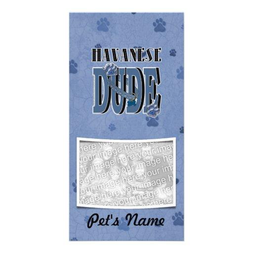 Havanese DUDE Photo Greeting Card