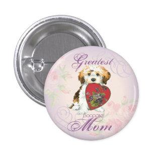 Havanese Heart Mom Pinback Button