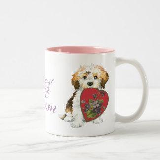 Havanese Heart Mom Two-Tone Coffee Mug
