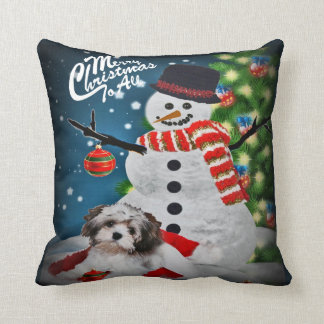 Havanese Merry Christmas To All Pillow