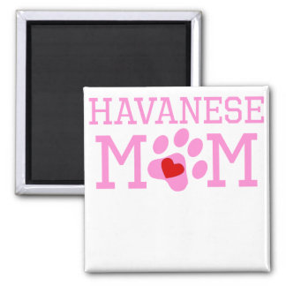 Havanese Mom 2 Inch Square Magnet