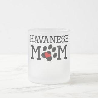 Havanese Mom Frosted Glass Coffee Mug