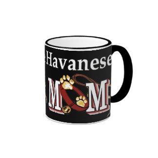 Havanese MOM Gifts Ringer Mug