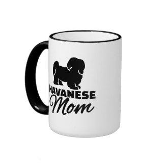 Havanese Mom Ringer Coffee Mug