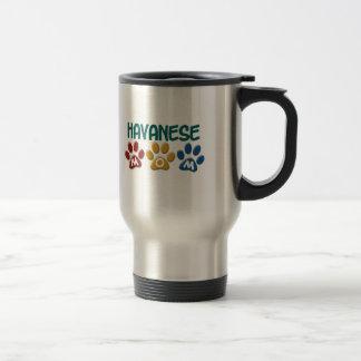 HAVANESE Mom Paw Print 1 15 Oz Stainless Steel Travel Mug