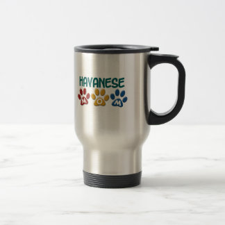 HAVANESE Mom Paw Print 1 Travel Mug