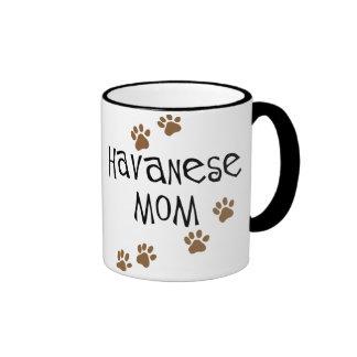 Havanese Mom Ringer Mug