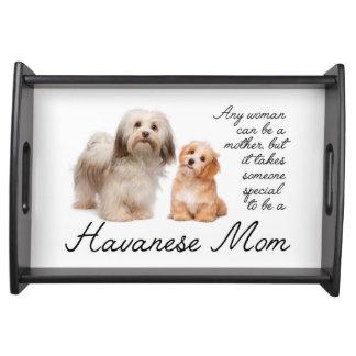 Havanese Mom Serving Tray