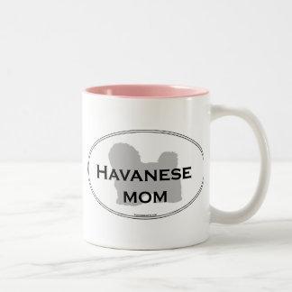 Havanese Mom Two-Tone Coffee Mug