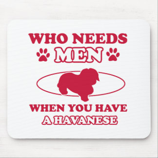 Havanese mommy design mouse pad