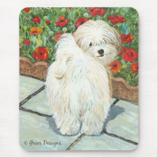 Havanese n Poppies Art Print Gifts & Cards Mouse Pad