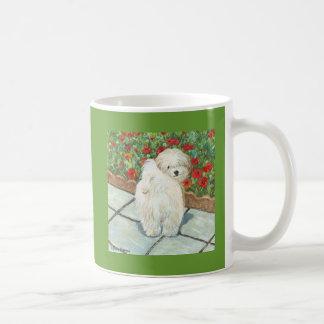 Havanese n Poppies Art Print Gifts & Cards Classic White Coffee Mug