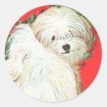 Havanese n Poppies Art Print Gifts & Cards Sticker