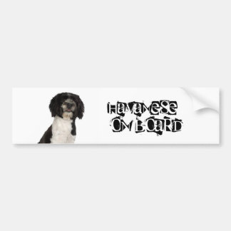 Havanese on Board Bumper Sticker