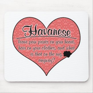 Havanese Paw Prints Dog Humor Mouse Pad