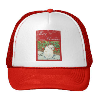 Havanese Poppy Christmas Gifts and Cards Trucker Hat