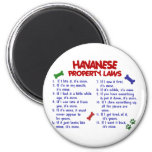 HAVANESE Property Laws 2 2 Inch Round Magnet