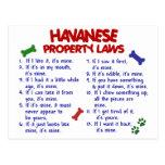 HAVANESE Property Laws 2 Postcard