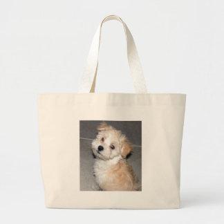 Havanese Puppy Large Tote Bag