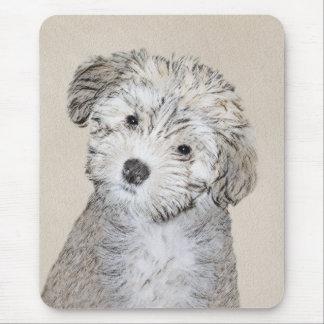 Havanese Puppy Painting - Cute Original Dog Art Mouse Pad