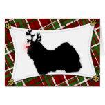 Havanese Reindeer Christmas Card