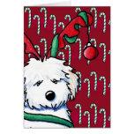 Havanese Reindeer Festive Holiday Card