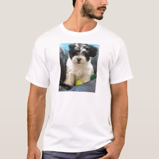 Havanese Rescue Puppy Black White T-Shirt