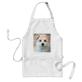 Havanese Rescue Puppy Tan funny green 'tooth' Adult Apron