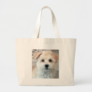 Havanese Rescue Puppy Tan funny green 'tooth' Bag