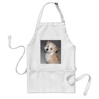 Havanese Rescue puppy tan white Adult Apron