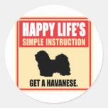 Havanese Round Sticker