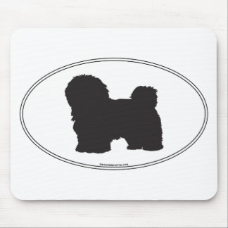 Havanese Silhouette Mouse Pad