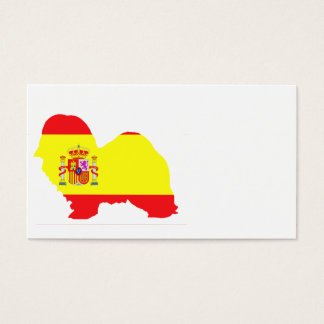 havanese Spain flag silhouette.png Business Card