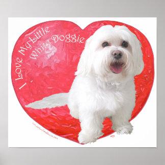 Havanese Valentine's Day Poster