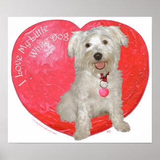 Havanese / Westie Mix Valentine's Day Poster