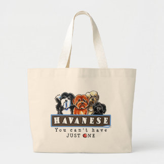 Havanese You Cant Have Just One Large Tote Bag