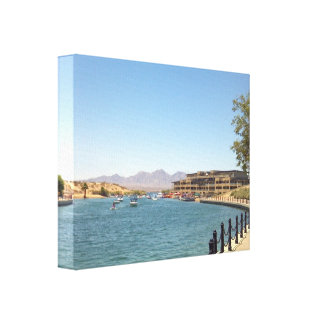 Havasu Lake Canal Canvas Print