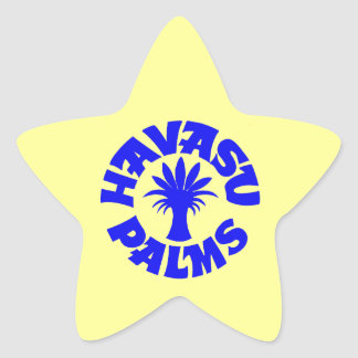 Havasu Palms Logo, Blue Star Sticker