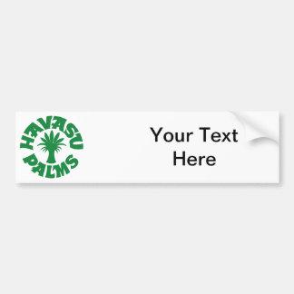 Havasu Palms Logo, Green Car Bumper Sticker