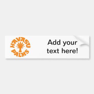Havasu Palms Logo, Orange Car Bumper Sticker