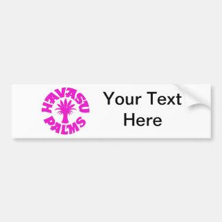 Havasu Palms Logo, Pink Car Bumper Sticker