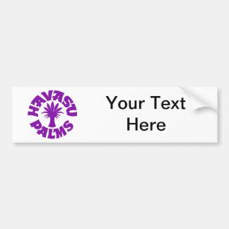 Havasu Palms Logo, Purple Car Bumper Sticker